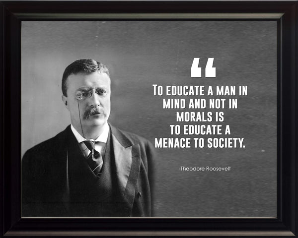 Theodore Roosevelt To Educate A Poster, Print, Picture or Framed Photograph
