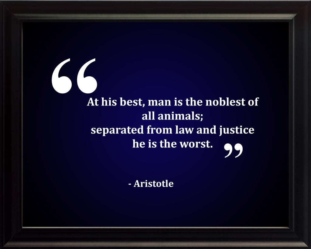 Aristotle At His Best Poster, Print, Picture or Framed Photograph