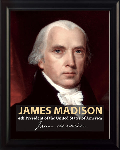 James Madison 4th President Poster, Print, Picture or Framed Photograph