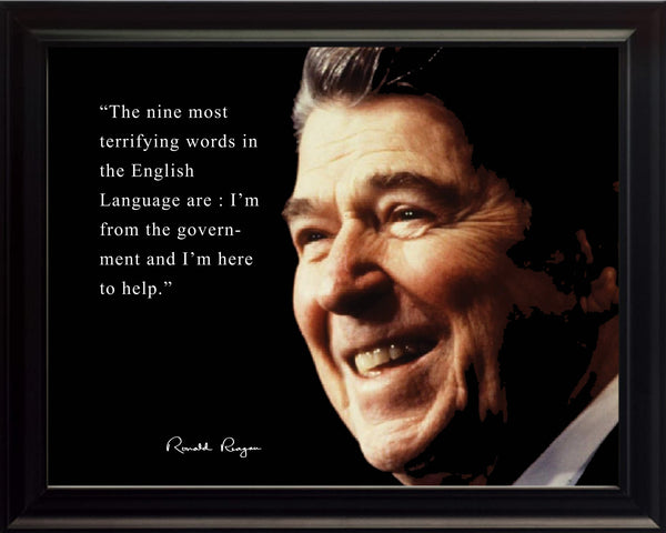 Ronald Reagan Framed Photo Picture 8x10