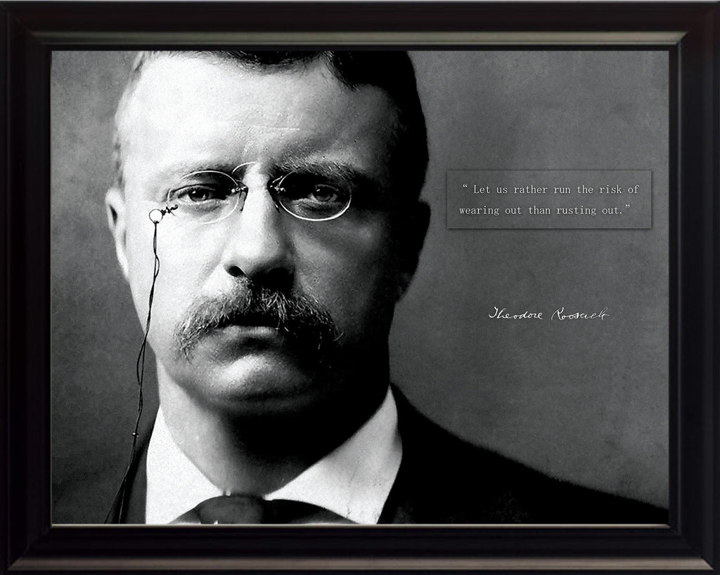 "Theodore Teddy Roosevelt - Photo, Picture, Poster or Framed Famous Quote ""Let us rather run the risk"""