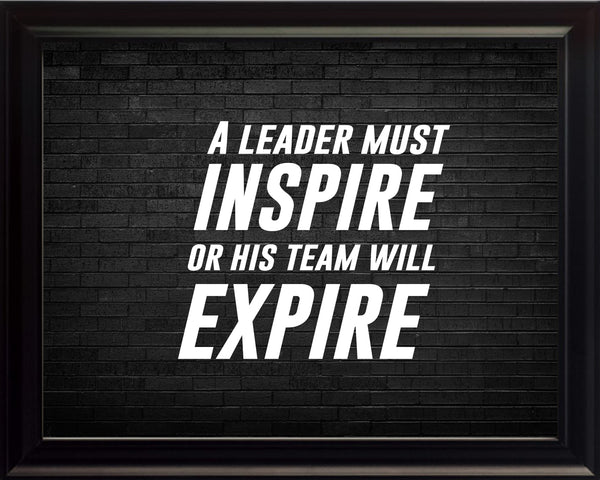 A Leader Must Sportsmanship Poster, Print, Picture or Framed Photograph