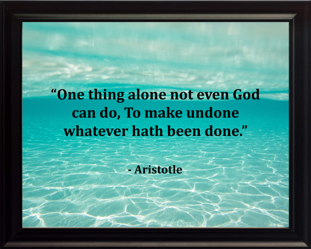 Aristotle One Thing Alone Poster, Print, Picture or Framed Photograph