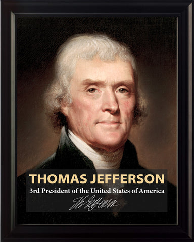 Thomas Jefferson 3rd President Poster, Print, Picture or Framed Photograph