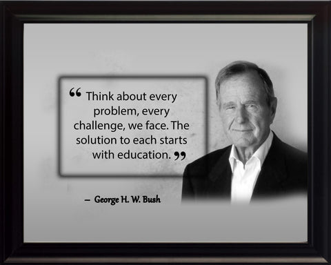 George W. Bush Think About Every Poster, Print, Picture or Framed Photograph
