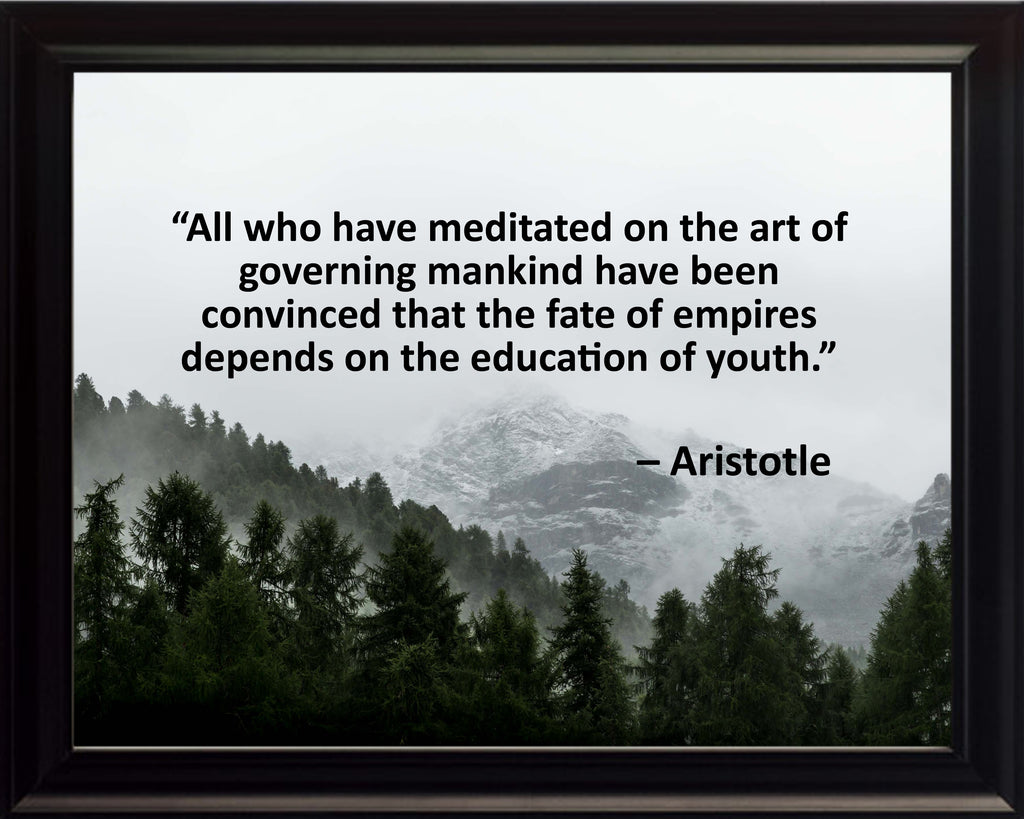 Aristotle All Who Have Poster, Print, Picture or Framed Photograph