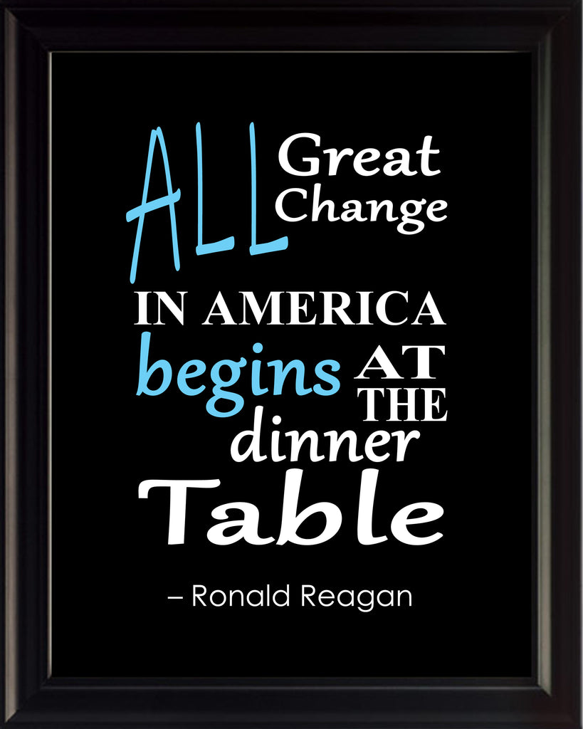 Ronald Reagan All Great Change Poster, Print, Picture or Framed Photograph