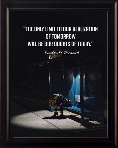 Franklin D. Roosevelt The Only Limit Poster, Print, Picture or Framed Photograph
