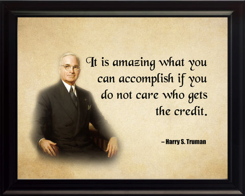 Harry S Truman It Is Amazing The Poster, Print, Picture or Framed Photograph