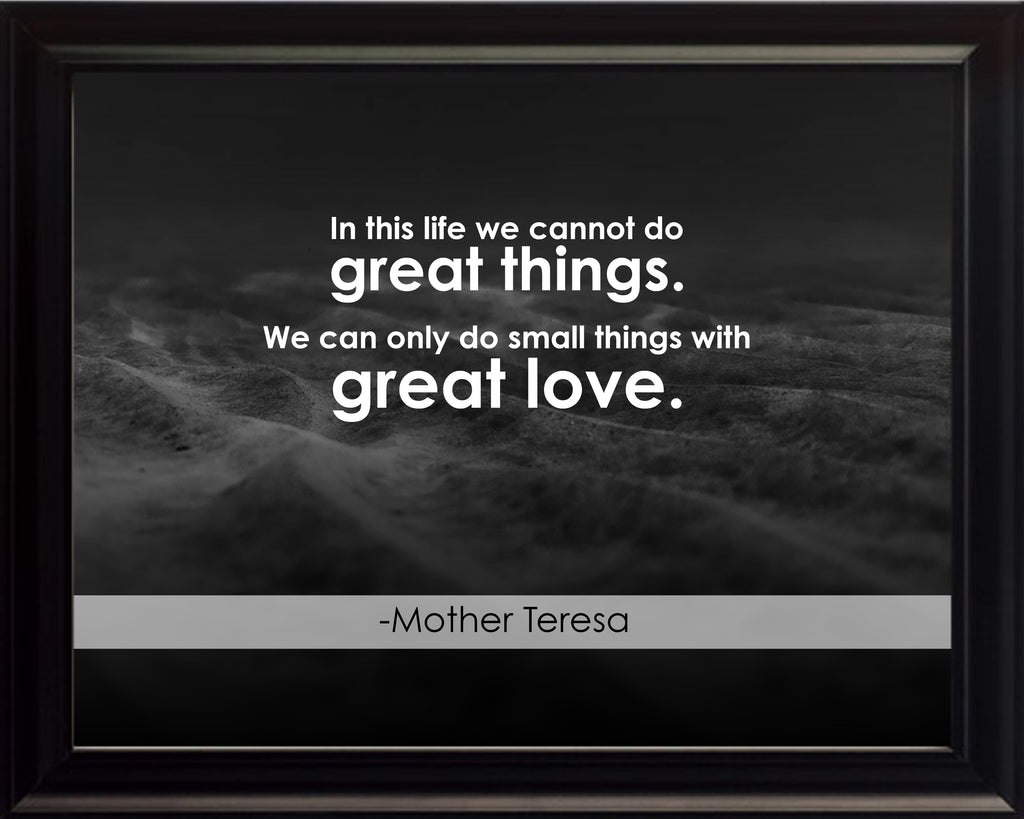 Mother Teresa In This Life Poster, Print, Picture or Framed Photograph