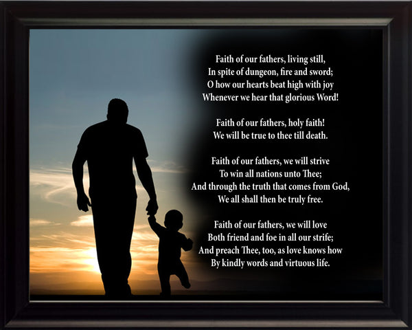 Faith Of Our Fathers Hymn Poster, Print, Picture or Framed Photograph
