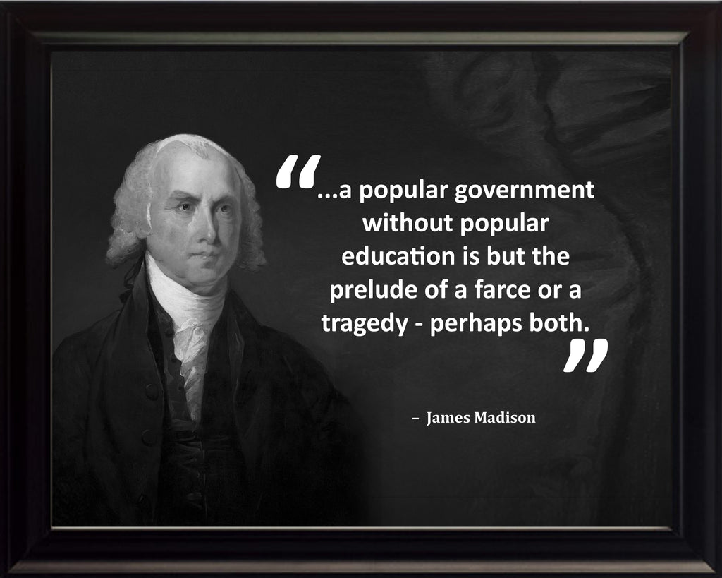 James Madison A Popular Government Poster, Print, Picture or Framed Photograph