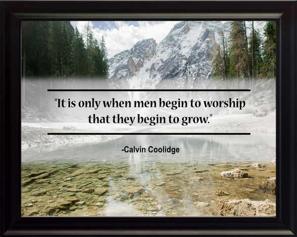 Calvin Coolidge It Is Only Poster, Print, Picture or Framed Photograph