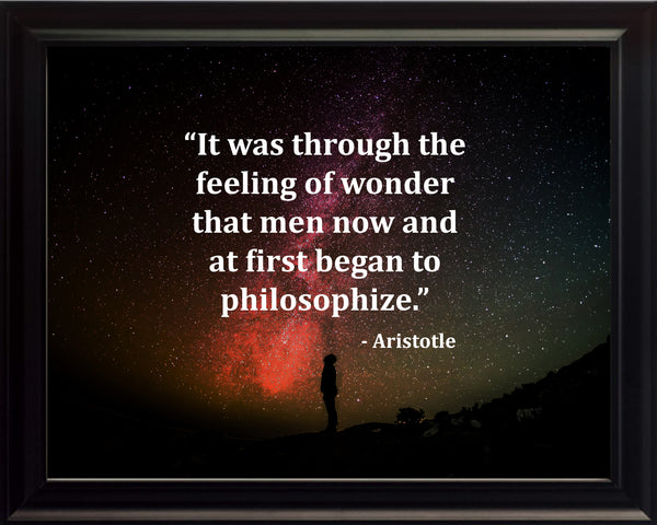 Aristotle It Was Through Poster, Print, Picture or Framed Photograph