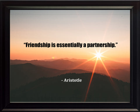 Aristotle Friend Is Essentially Poster, Print, Picture or Framed Photograph
