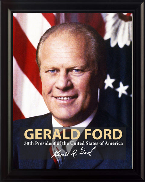 Gerald Ford 38th President Poster, Print, Picture or Framed Photograph