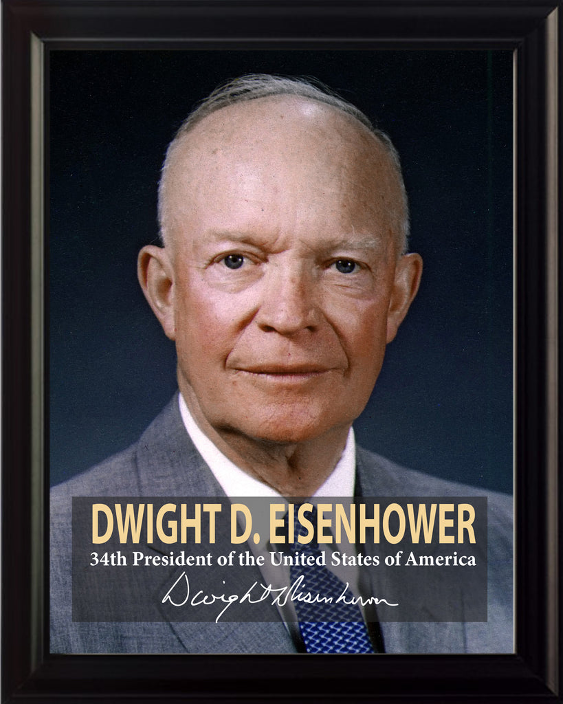 Dwight D. Eisenhower 34th President Poster, Print, Picture or Framed Photograph
