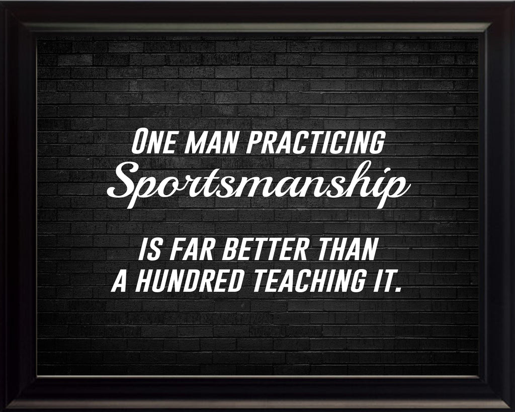 One Man Practicing Sportsmanship Poster, Print, Picture or Framed Photograph