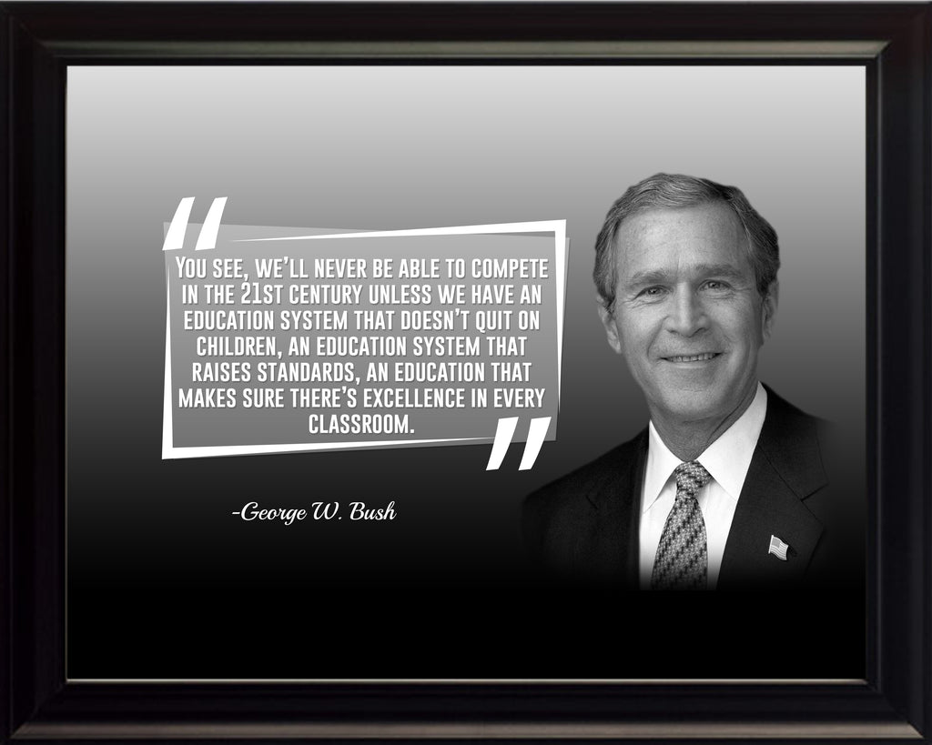 George W. Bush You See We Poster, Print, Picture or Framed Photograph