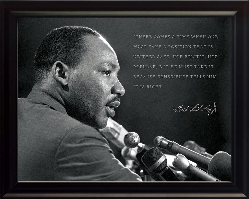 "Martin Luther King Jr - Photo, Picture, Poster or Framed Famous Quote ""There comes a time"""
