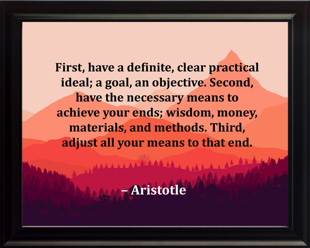 Aristotle First Have A Poster, Print, Picture or Framed Photograph