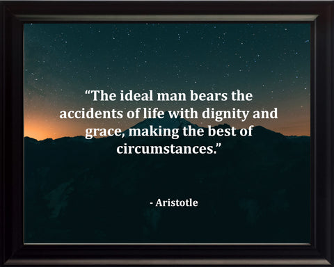 Aristotle The Ideal Man Poster, Print, Picture or Framed Photograph