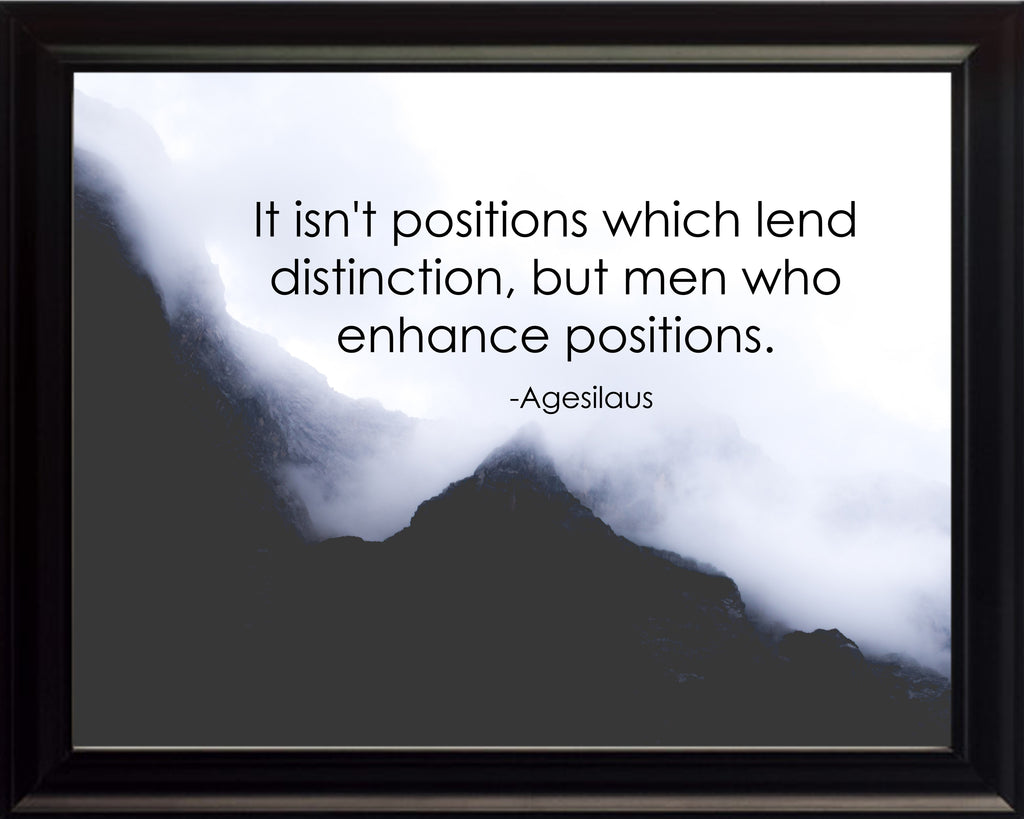 Agesilaus It Isn't Positions Poster, Print, Picture or Framed Photograph