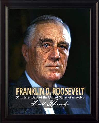 Franklin D. Roosevelt 32nd President Poster, Print, Picture or Framed Photograph