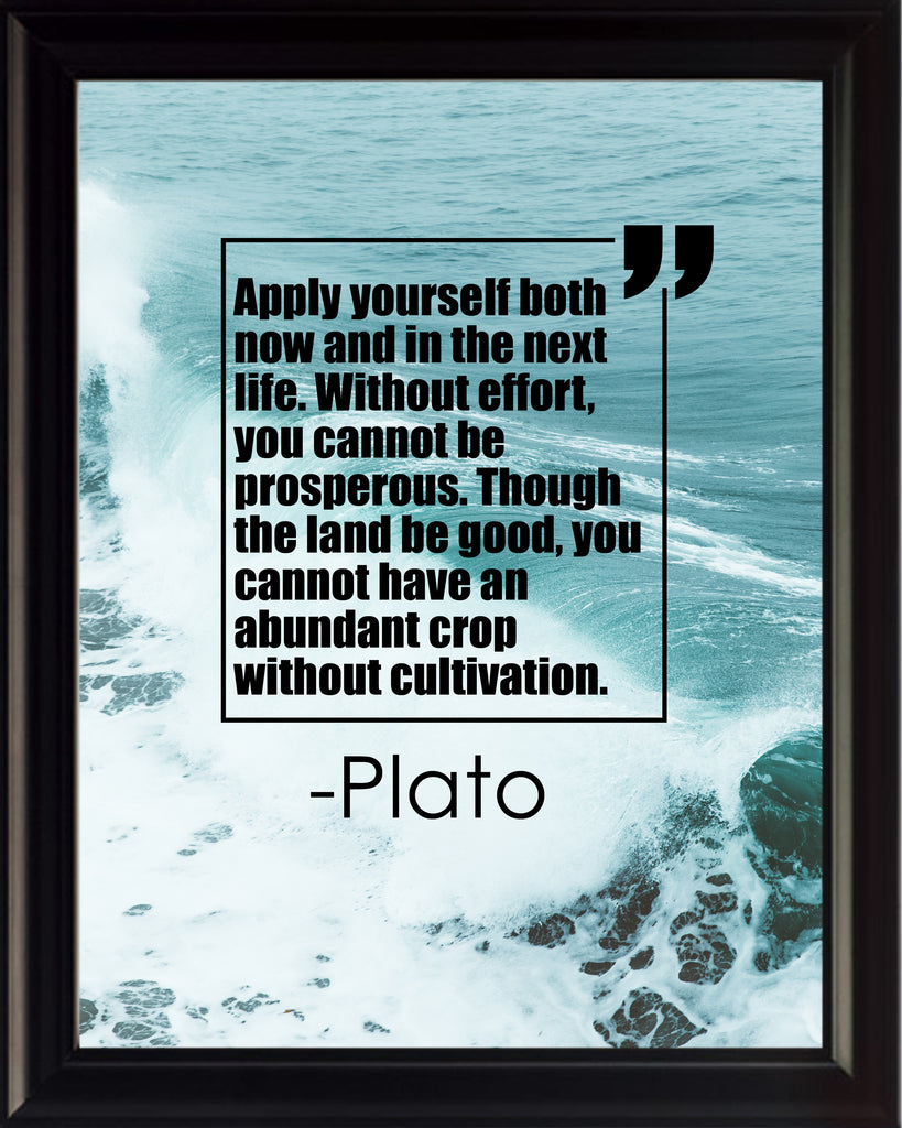 Plato Apply Yourself Both Poster, Print, Picture or Framed Photograph
