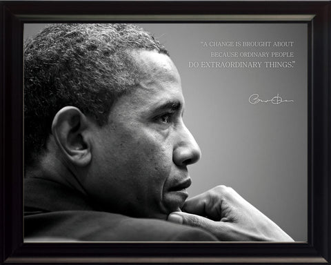 "Barack Obama - Photo, Picture, Poster or Framed Famous Quote ""Change"""