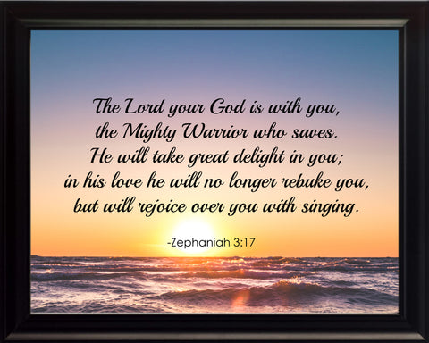 Zephaniah 3:17 The Lord Your Poster, Print, Picture or Framed Photograph