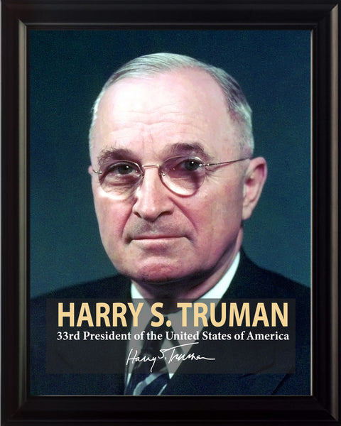 Harry S. Truman 33rd President Poster, Print, Picture or Framed Photograph