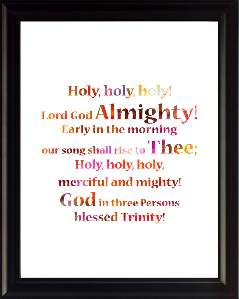 Reginald Heber Holy Holy Holy Poster, Print, Picture or Framed Photograph