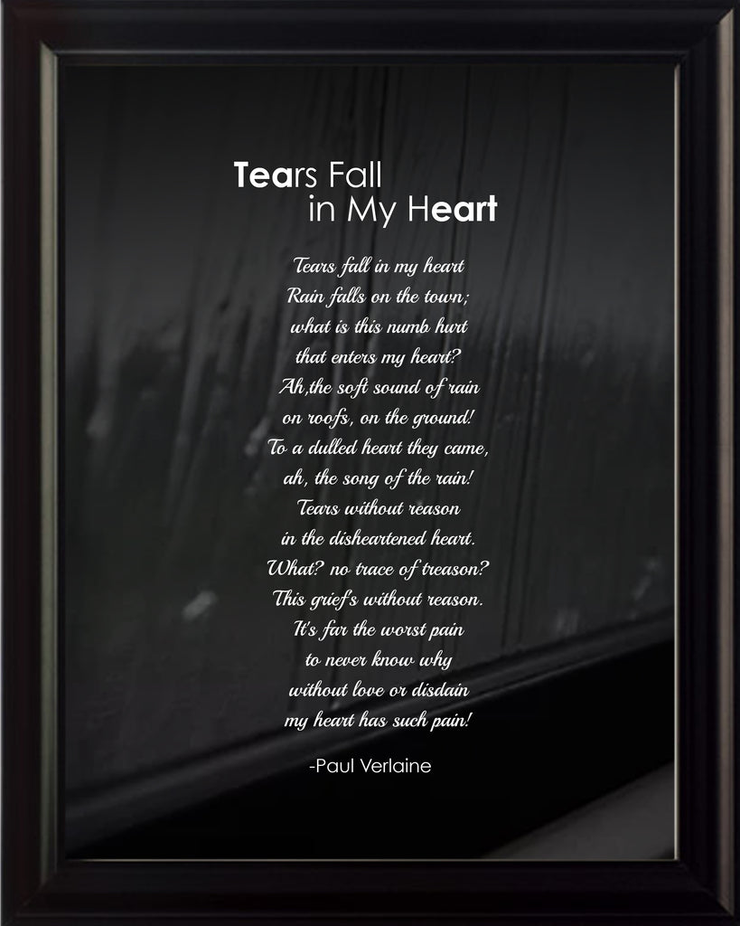 Paul Verlaine Tears Fall In Poster, Print, Picture or Framed Photograph