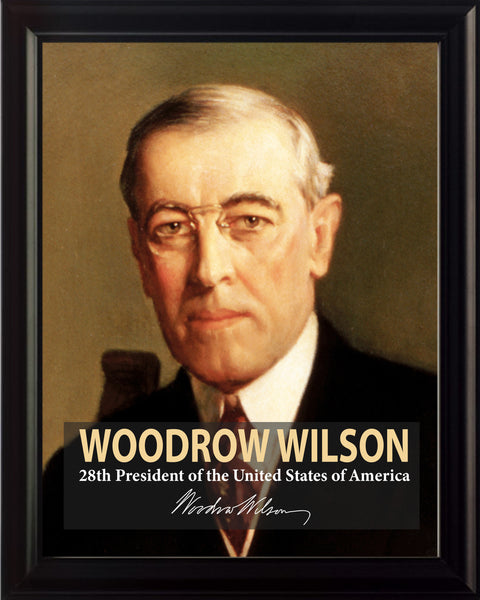 Woodrow Wilson 28th President Poster, Print, Picture or Framed Photograph