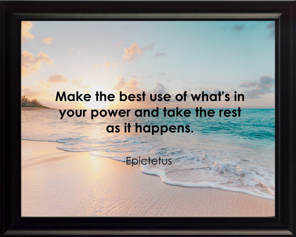 Epictetus Make The Best Poster, Print, Picture or Framed Photograph