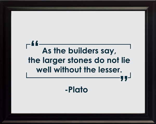 Plato As The Builders Poster, Print, Picture or Framed Photograph