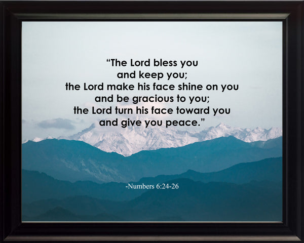 Numbers 6:24-26 The Lord Bless Poster, Print, Picture or Framed Photograph