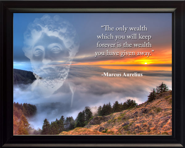 Marcus Aurelius The only wealth Poster, Print, Picture or Framed Photograph