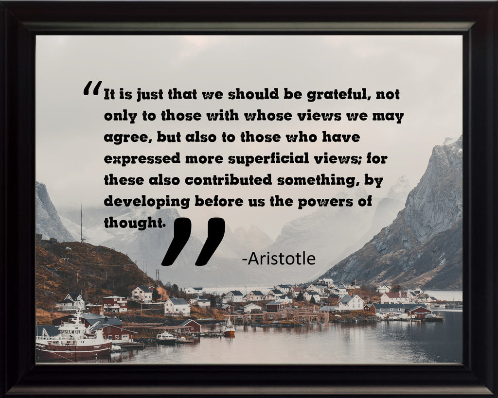 Aristotle Dignity It Is Just Poster, Print, Picture or Framed Photograph