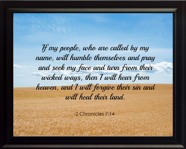 2 Chronicles 7:14 If My People Poster, Print, Picture or Framed Photograph