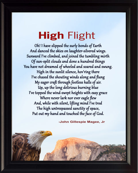 John Gillespie Magee, Jr High Flight Poster, Print, Picture or Framed Photograph