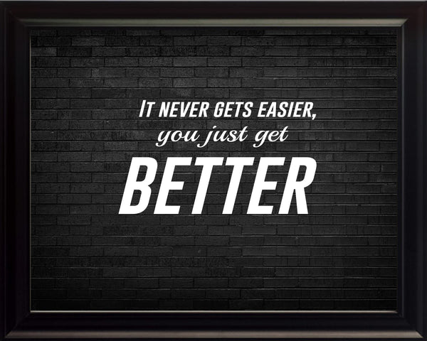 It Never Gets Sportsmanship Poster, Print, Picture or Framed Photograph
