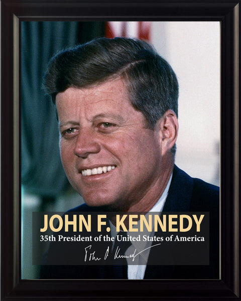 John F. Kennedy 35th President Poster, Print, Picture or Framed Photograph