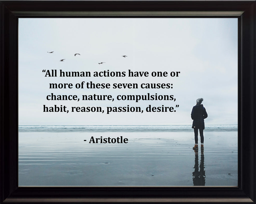 Aristotle All Human Actions Poster, Print, Picture or Framed Photograph