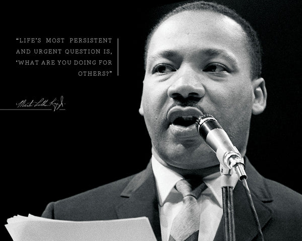 "Martin Luther King Jr - Photo, Picture, Poster or Framed Famous Quote ""Life's most urgent question"""