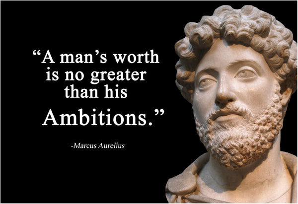 Marcus Aurelius A man's worth Poster, Print, Picture or Framed Photograph