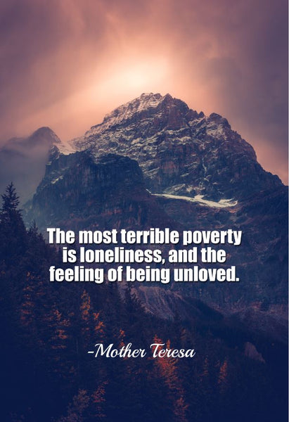 Mother Teresa The Most Terrible Poster, Print, Picture or Framed Photograph