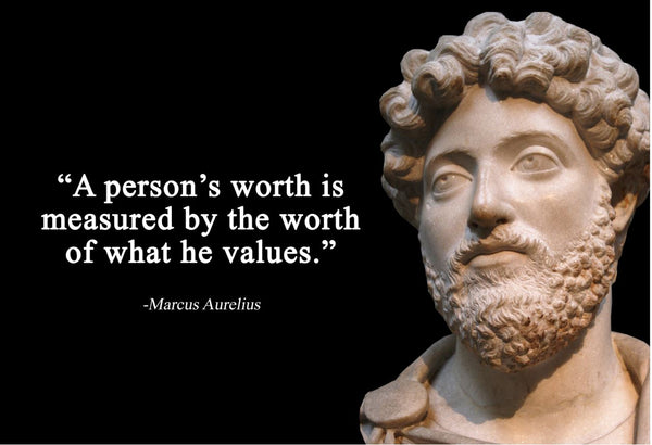 Marcus Aurelius A person's worth Poster, Print, Picture or Framed Photograph
