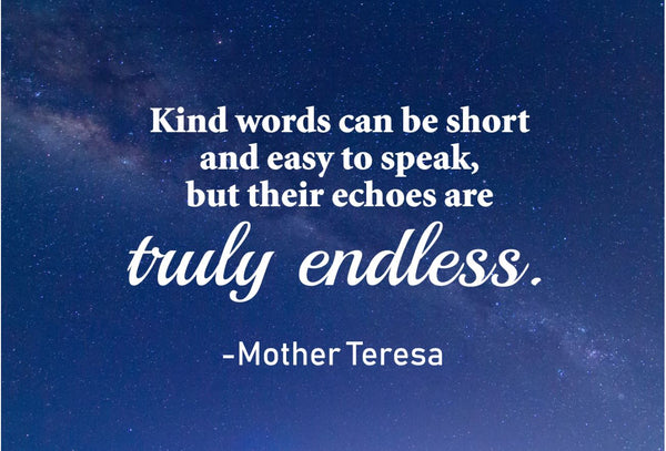 Mother Teresa Kind Words Can Poster, Print, Picture or Framed Photograph